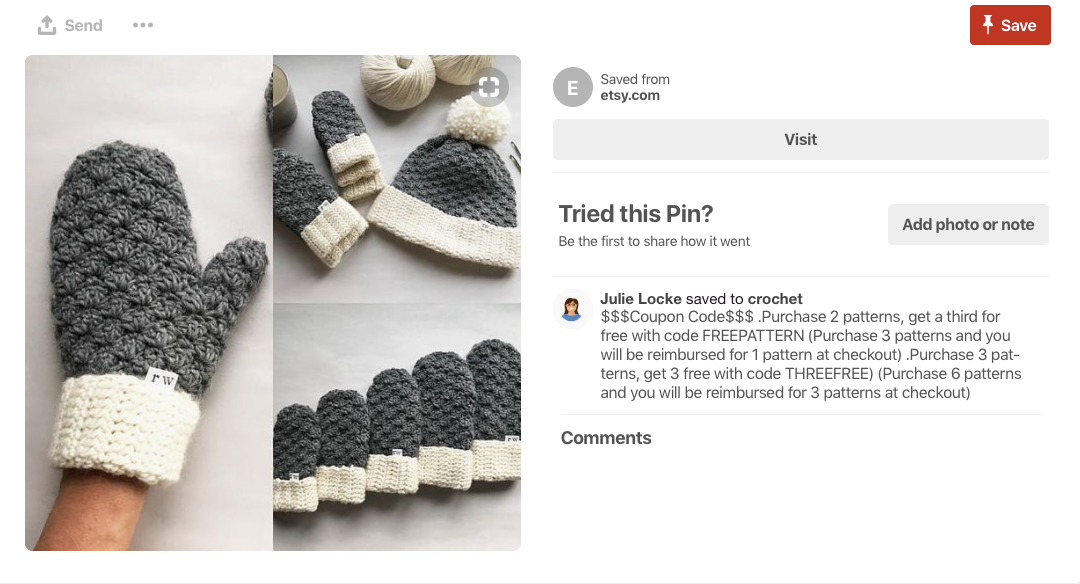 20 ways to use pinterest to generate traffic and profit kim garst want your pin to get lots of re pins and drive both traffic and sales create a coupon complete with coupon hashtag and a coupon code and pin it to a fandeluxe Choice Image