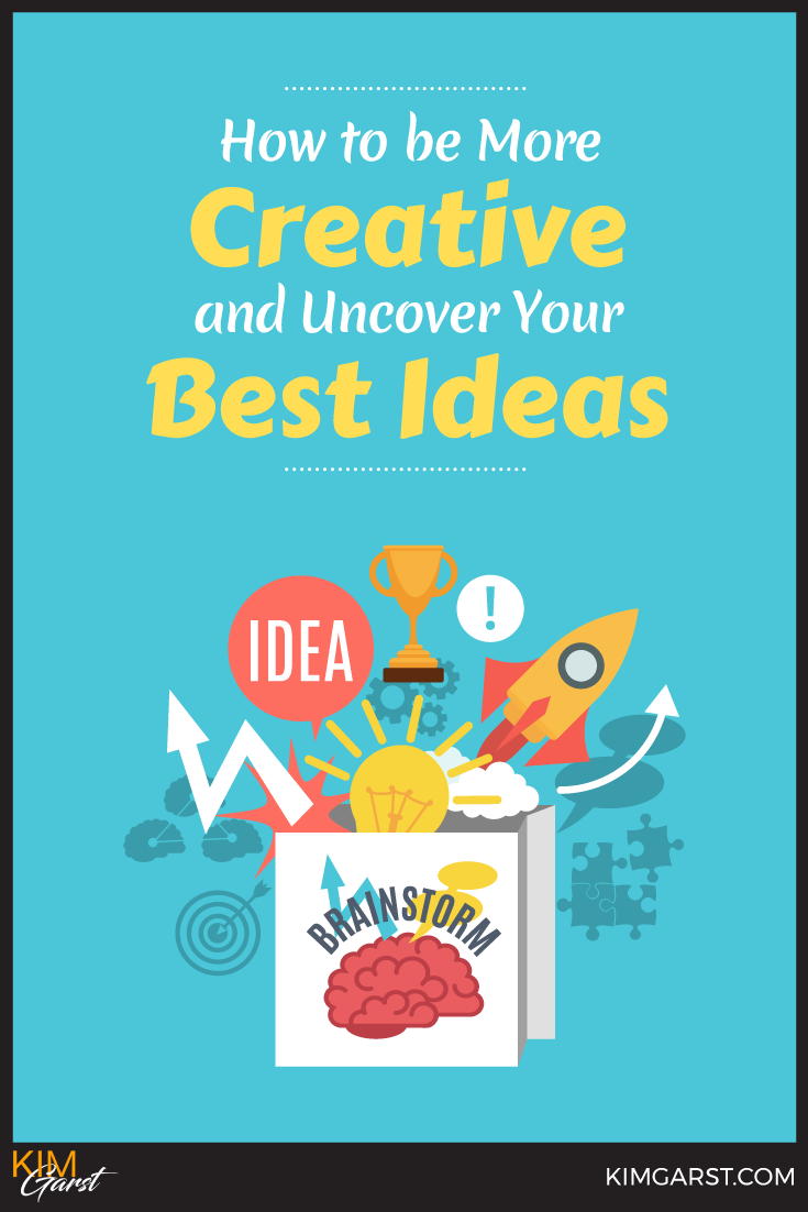 """Not the """"creative type""""? News Flash! Creativity CAN be learned! Use these ideas and strategies to build your creativity """"muscles"""" and uncover your BEST ideas!"""