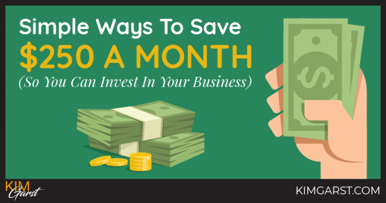 Simple Ways To Save $250 a Month (So You Can Invest In Your Business)