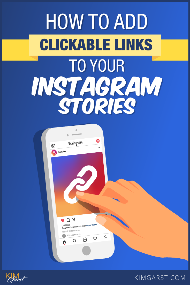 Step by step process of adding Clickable Links to Your Instagram Stories, so you can drive traffic to your website, blog or store.