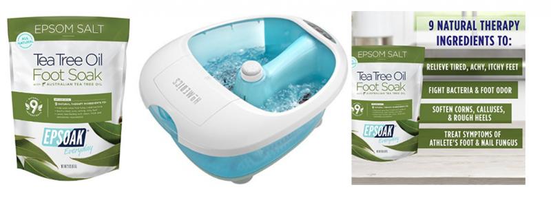 Homedics Foot Bath & Tea Tree Oil Foot Soak