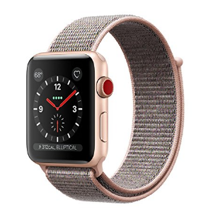 Apple Watch Series 3 (Gold Aluminum case with Pink sand sport loop)
