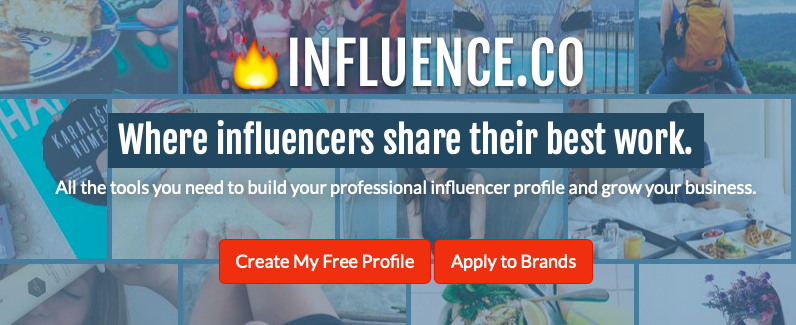 Influence.co helps you connect with people who may want to use you for influencer marketing.