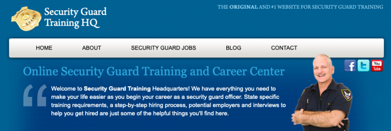 Niche websites like this one on how to become a security guard are an excellent way to generate passive income.