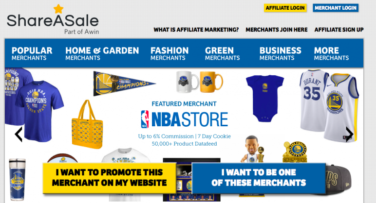 Affiliate marketing platforms like ShareASale help with earning passive income.