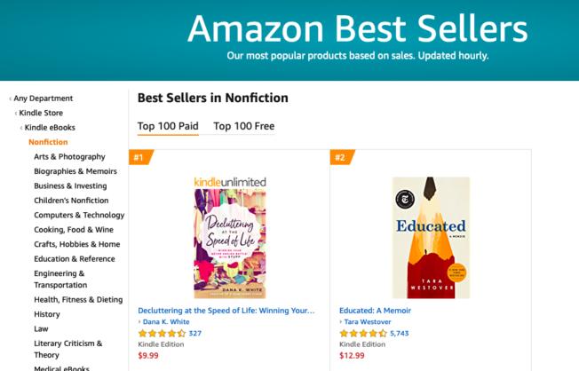 topics of amazon bestsellers