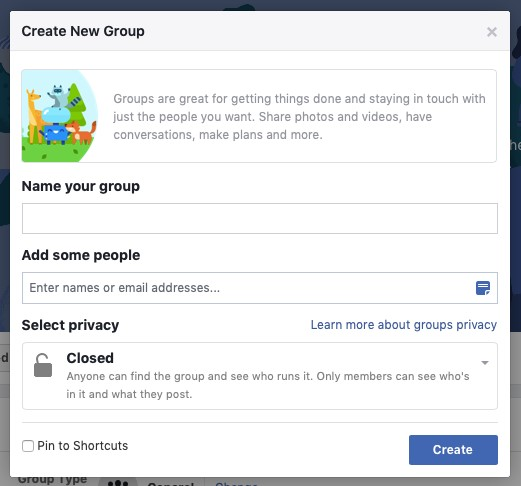 starting your own facebook group