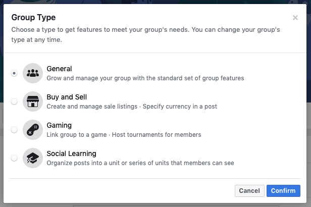 Types-of-facebook-groups