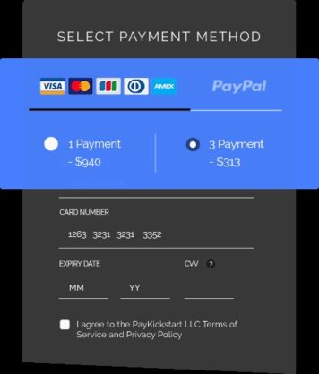 Paykickstart-payment-method-page