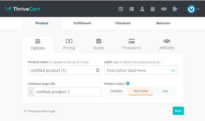 Create-New-Product-in-ThriveCart-Product-Fulfillment-Checkout-and-Behavior