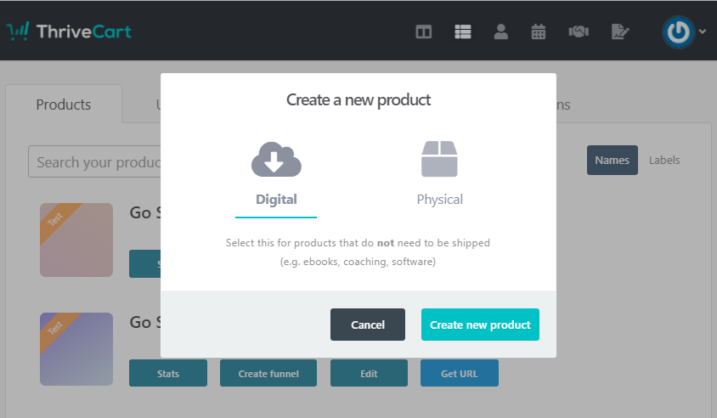 Create-New-Product-in-ThriveCart