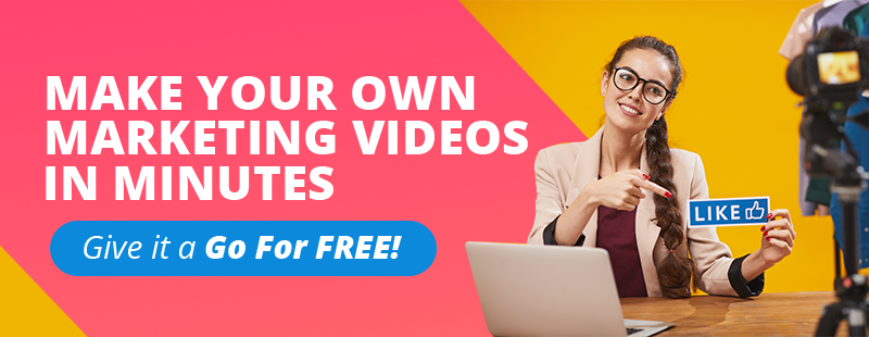 Create your own marketing videos in minutes